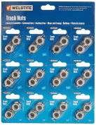 Weldtite 1cm Track Nuts (12 Pairs = 1 Card), 8362