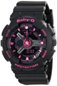 Casio Women's BA-111-1ACR Baby-G Analogue-Digital Display Quartz Black Watch