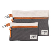 Stanley Tools Utility Pouches Toiletry Bag, 24 cm, Grey, Set of 2