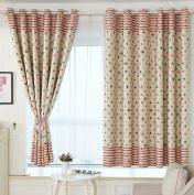 Yiyida Pair of Stars Room Darkening Interwoven Lining Blackout Window Treatment Curtains for Kids' Room, 1.5m Width x 2m Drop