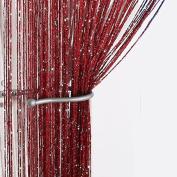 Yiyida Dew Drop Glitter String Door or Window Curtain Panel Divider Curtain Strip Tassels 1 Piece 2.9m x2.9m
