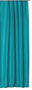 Alaska Thermal Curtain Opaque Extra Wide Curtain with Polar Fleece Decorative Tape W/H 250X245 cm # 1407, Polyester, türkis dunkel, 250x245