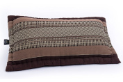 Large Support & Throw Pillow 60x32cm, with Kapok filling, Brown tones