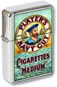 Navy Cut Flip Top Lighter