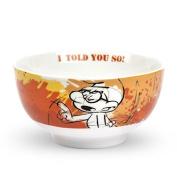 Egan Glasses Smurfs Smurf Orange Cereal Bowl 600 ml