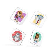 Lion Shark Bulldog Bear Animal Children Kids Coasters