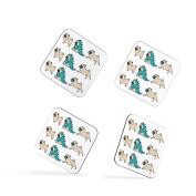 Pug Dog Funny Cute Dinosaur Dog Lover Coasters