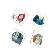 Little Red Riding Hood Wolf Children Kids Coasters