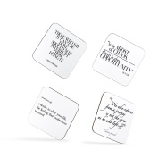 Novaturient Travel Wanderlust Chinese Proverb Motivation Quote Coasters
