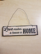 Small Hanging Wooden Sign
