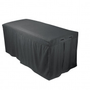 For Pro 310026 Forpro Premium Table Skirt, Cool Grey