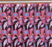 Bright Paisley Print Bathroom Set - Shower Curtain and Resin Hooks Set