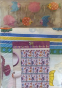 Tropical Fish Design Bathroom Set - Shower Curtain and Resin Hooks Set