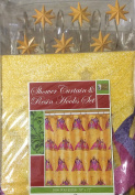 3 Wisemen Christmas Bathroom Set - Shower Curtain and Resin Hooks Set