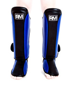 RingMasterUK Synthetic Leather Shin Pads Instep Foot Protectors