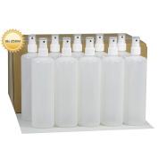 10 x 250 ml with Finger Trigger Spray Bottle Atomiser Spray Plastic Bottles with Spray Pump HDPE Plastic Bottles with Atomiser Spray 10 Labels