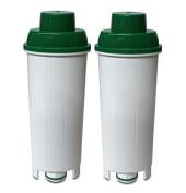 2 x CFL-950B Water filters fits Delonghi SER3017 Espresso Coffee Maker DLS C002