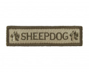 Sheepdog Tactical Hook and loop Fully Embroidered Morale Tags Patch 1x4