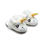 LUFA 1Pair Plush Unicorn Slippers Winter Warm Grown Ups Indoor Slippers