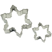 PME Snowflakes Cookie and Cake Cutters, Small and Large Sizes, Set of 2
