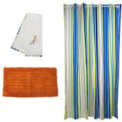 Pam Grace Creations Rockstar Bath Set, Orange/Blue