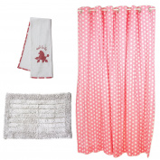 Pam Grace Creations Posh in Paris Bath Set, Pink/White