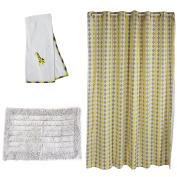 Pam Grace Creations Argyle Giraffe Bath Set, Yellow/Grey