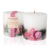 Stoneglow Winter Flowers Inclusion Scented Candle Single Wick