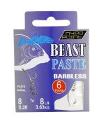 Dinsmores Beast Paste Barbless Rig Hook - Silver, 8
