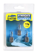 Dinsmores Square Bomb Syndicate Non-Toxic Sinker - Brown, 10 g