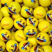 Emoji Unisex Crying with Laughter Face Novelty Golf Balls (Pack of 100), Yellow
