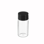 10 Pcs Clear Glass 10ml 22*50mm Liquid Sample Glass Bottles Essential Oil Perfume Storage Bottles Vials Cosmetic Makeup Cream Container Jars Message Wishing Bottles