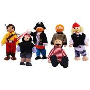 Bigjigs Toys Heritage Playset Pirate Set Doll by Bigjigs Toys