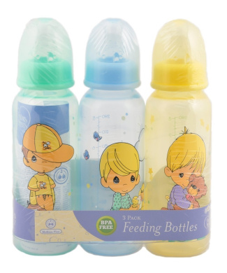 """Precious Moments """"Boys Will Be Boys"""" 3-Pack Bottles - yellow/blue, one size"""
