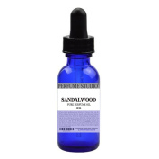 Sandalwood Pure Perfume Oil Premium Cosmetic Grade. Use for Perfume Making, Personal Body Oil, Soap & Candle Making and Incense; 30ml Cobalt Glass Dropper Bottle. Undiluted, Alcohol Free.