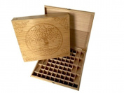PURAVIVA Essential Oil Deluxe Wood Storage Box for 76 bottles (Natural) by PURAVIVA ESSENTIALS