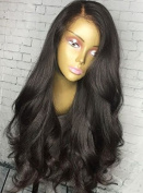 Cupidlovehair 200% Density Loose Wave Mongolian Virgin Remy Human Hair Full Lace Wigs For Women Natural Black With A Lot Baby Hair