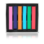 ImagineLife 6 Colours Hair Chalk Set Non-Toxic Rainbow Blendable Pastels Temporary Edge Chalkers - Lasts up to 3 Days, No Mess
