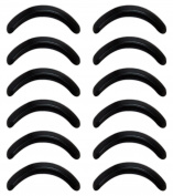 JPNK Replacement Silicone Rubber Refill Eyelash Curler Pads Pack of 12
