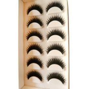 Eyelashes,Canserin 6 Pair Handmade Natural False Eyelashes