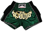 LUMPINEE MUAY THAI BOXING RETRO DARK GREEN SHORTS TRUNKS SIZE XL