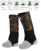 HOPESOOKY 1 Pair Outdoor Camouflage Layer Waterproof Hiking Walking Climbing Hunting Shoes CoverSnow Legging Gaiters