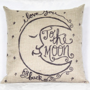 MSY Retro Cotton Linen Square Throw Pillow Case Decorative Cushion Cover Pillowcase 18*46cm