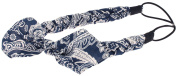 Capelli New York Ladies Paisley Printed Braided Head Wrap Blue Combo One Size