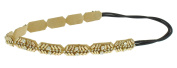 Capelli New York Ladies Beaded Headwrap Gold One Size
