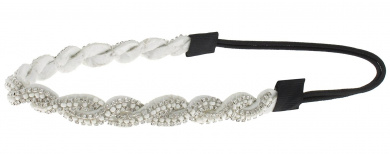 Capelli New York Ladies Gems Braid Headwrap Silver One Size