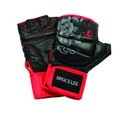 Bruce Lee Dragon Deluxe MMA Grappling Gloves - Black/Red - size M - XL