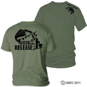 CARP CATCH & RELEASE t-shirt ideal birthday, Father's Day, Christmas gift FREE UK DELIVERY!!!