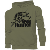 PIKE HUNTER hoodie hunter, fishing, angling carp perch zander predators ideal birthday, Father's Day, Christmas gift FREE UK DELIVERY!!!