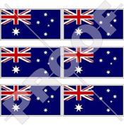 "AUSTRALIA Australian Flag 40mm (1,6"") Mobile Cell Phone Vinyl Mini Stickers, Decals x6"